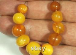 10 Antique Amber Beads Strand 35 CT Butterschotch Egg Yolk Amber Beads