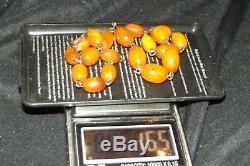 100% Genuine Baltic natural butterscotch egg yolk amber necklace 16.5g
