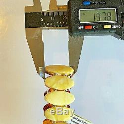 100% Genuine Russian Baltic Amber Bracelet Vintage Butterscotch Egg Yolk