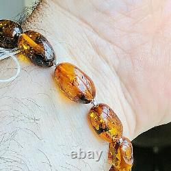 100% Genuine Russian Baltic Amber Bracelet Vintage Butterscotch Egg Yolk Polish