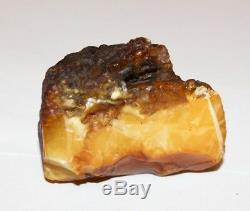 100% Natural Baltic Amber Stone 51.42g Egg Yolk Beeswax