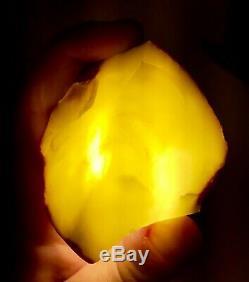 100% Natural Raw Baltic Amber 69g White Landscape Stone Kehribar Bernstein