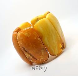 100 gram Antique Natural Baltic Amber Bracelet Egg Yolk RED Butterscotch RARE