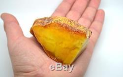 102.3 Gram Natural Baltic Antique Raw Amber Butterscotch Royal White Egg Yolk