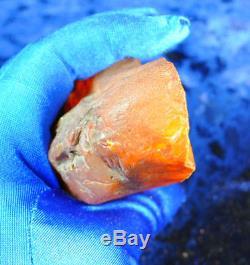 104g Huge Real Natural Genuine Antique Old Egg Yolk Baltic Amber Stone Bernstein