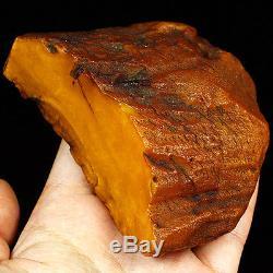 110.2g 100% Natural Baltic Butterscotch Amber Antique Egg Yolk WRL6