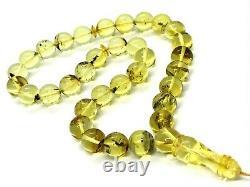 12 mm Islamic 33 Prayer Beads Natural Baltic Amber Tasbih Misbaha 34,4g 10574