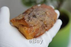 130 gr. Antique natural Baltic Sea butterscotch egg yolk amber stone