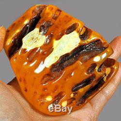 142.9g 100% Natural Baltic Antique Polished Butterscotch Egg Yolk Amber YRL122