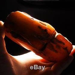150.95g 100% Natural Polished Baltic Butterscotch Amber Antique Egg Yolk YRL38