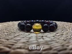 16,3g Natural Baltic Amber Bracelet Cherry Lemon Round Beads Hupo-se Unisex