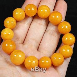 16.7g 100% Natural Antique Baltic Butterscotch Amber Bead Bracelet CRLz1
