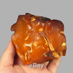 173.05g 100% Natural Polished Baltic Butterscotch Amber Antique Egg Yolk YRL39