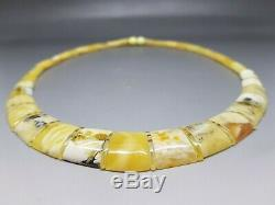 18 Elegant Baltic Amber Cloepatra Necklace Beads for Woman White/Butterscotch