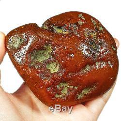 185.1g 100% Natural Baltic Antique intact Butterscotch Egg Yolk Amber UWRL2R