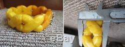 2# Old Vintage Egg Yolk Butterscotch Natural Baltic Amber Bracelet 49 grams