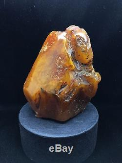 202g Natural Rare Baltic Amber Stone Mat Yellow Beeswax Colour Bernstein