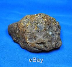 206g Huge Real Natural Genuine Antique Old Egg Yolk Baltic Amber Stone Bernstein