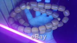 246g Antique natural baltic amber eggyolk rosary prayer ambar