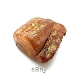 283,8g Natural Baltic Amber Stone Mat Yellow White Beeswax Colour Bernstein