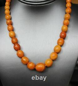 29gr Natural Antique Baltic Amber Necklace Egg Yolk Butterscotch