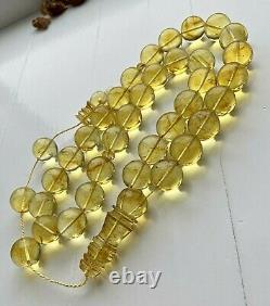 3 INCLUSION INSECT Big 20mm. Beads Natural Baltic Amber Islamic Prayer Rosary