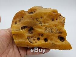 326 g Amber Baltic 100% Natural Stone Genuine Rock Bernstein Raw Pendant S4