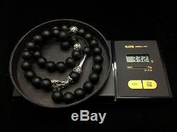 33,2g Natural Baltic Amber Rosary Tesbih Kehribar Black Round 10mm Beads