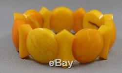 35.1 gr Genuine vintage natural baltic amber bracelet egg yolk butterscotch