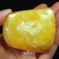 37.43g 100% Natural Baltic Butterscotch Egg Yolk Amber Antique Pendant YRLP1