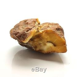 373,5g Natural Old Baltic Amber Stone Mat Marble Yellow Colour Bernstein
