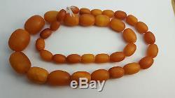 38 gr. Unique! Alpha plus natural egg yolk Baltic amber antique set of beads