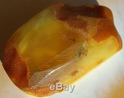 40.91 gm Vintage Butterscotch Egg Yolk Color Genuine Natural Baltic Amber Stone