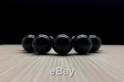 41,6g Natural Baltic Amber Bracelet Black Round Hupo-se