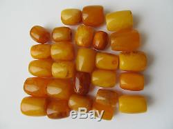 44.5 gr. OLD Natural Baltic Amber 26 BEADS