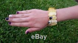 44 grams Genuine Big Natural Baltic Amber Bracelet No Enhancement Butterscotch