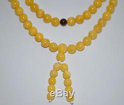 47 gr. Egg Yolk Butterscotch Natural Baltic Amber Stone 108 Prayers Mila