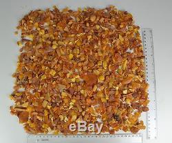 500 gr. RANDOM LOT of NATURAL BALTIC AMBER STONE (BUTTERSCOTH EEG YOLK)
