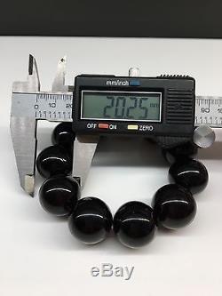 51,8g Natural Baltic Amber Bracelet Cherry Round Hupo-se