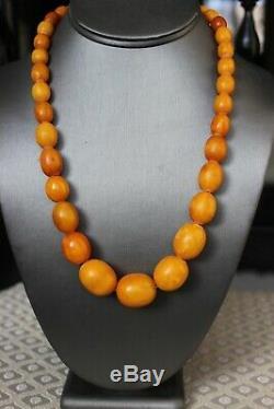 51gr Natural Antique Baltic Amber Necklace Egg Yolk Butterscotch
