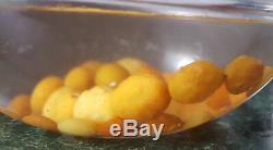 52g carved Antique EggYolk Butterscotch Natural Baltic Amber Necklace Bernstein