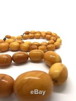 55,8g Natural Baltic Amber Beads, Marble Colour