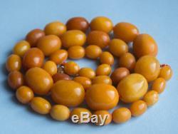 60gr Bernstein Kette, Antique Natural Baltic Amber Necklace egg yolk