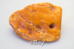 62 gram Natural Raw Baltic Amber stone, pendant butterscotch egg yolk color