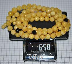 65.8 gr. Egg Yolk Butterscotch Natural Baltic Amber Stone 108 Prayers Mila