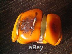 68 Gramm natural Baltic Butterscotch Amber Bernstein Armband Bracelet antik