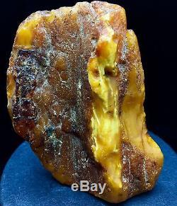 69g Natural Baltic Amber Stone Mat Yellow White Beeswax Colour Bernstein