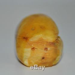 71.9 grams Nice Antique Egg Yolk Butterscotch Natural Baltic Amber Stone