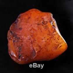 76.81g Natural Polished Old Baltic Butterscotch Amber Antique Egg Yolk YRL11