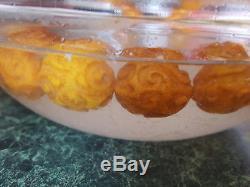 80g carved Antique EggYolk Butterscotch Natural Baltic Amber Necklace Bernstein